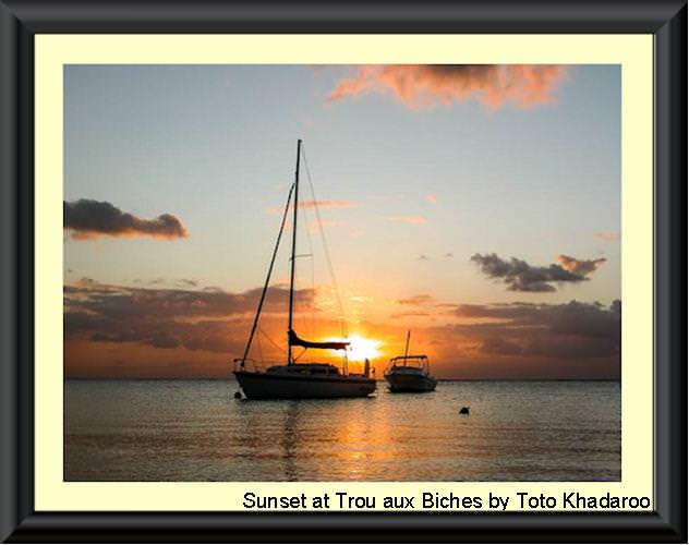 Sunset at Trou aux Biches by Toto Khadaroo 500