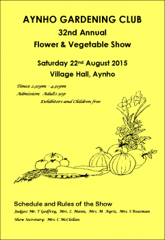 FRONT PAGE FLOWER & VEG SHOW